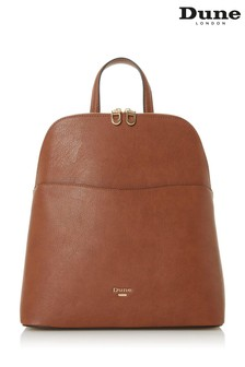 Dune London Tan Dovalle Synthetic Logo Plate Backpack