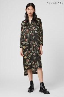 AllSaints Floral Print Western Esther Shirt Dress