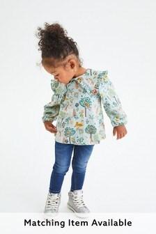 Трикотажная блузка с большим воротником (3 мес.-7 лет)
