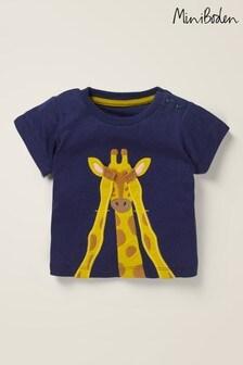 Синяя футболка с аппликацией Boden Safari