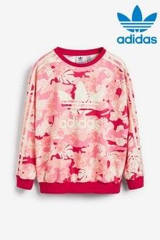 adidas Originals Pink Camo Sweat Top