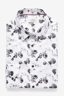 Slim Fit Floral Shirt