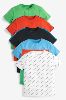 5 Pack T-Shirts (3-16yrs)