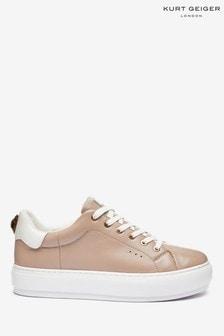 Różowe, skórzane buty sportowe Kurt Geiger London Laney Eagle