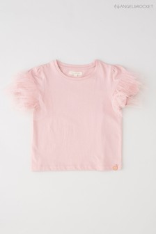 Angel & Rocket Pink Eyelash Puff Sleeve T-Shirt