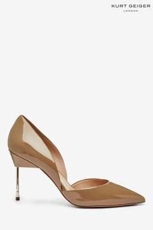 Cieliste,lakierowane buty na obcasie Kurt Geiger London Bond