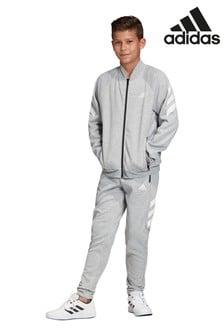 Серый флисовый спортивный костюмadidasFXG