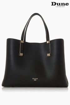 Dune London Dorrie Black Synthetic Logo Hardware Tote Bag