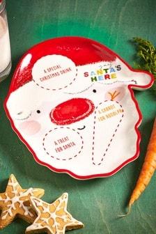 Santa Christmas Eve Plate