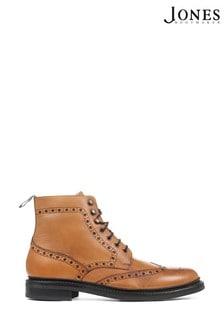 Jones Bootmaker Tan Kristian Goodyear Welted Full Brogue Boots