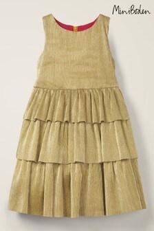 Boden金色亮面多層次洋裝
