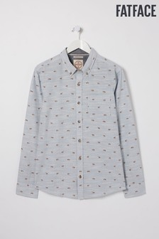 FatFace Blue Fox Print Shirt