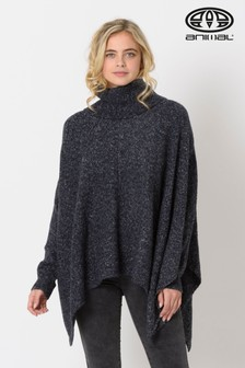 Animal Indigo Blue Marl Kyra Knitted Jumper Cape