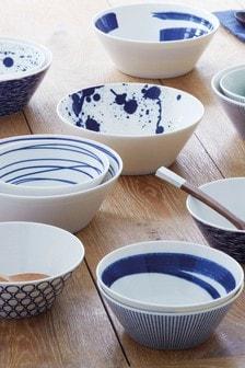 Set of 6 Royal Doulton Blue 11cm Pacific Bowls