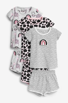 3 Pack Character Short Pyjamas (9mths-8yrs)