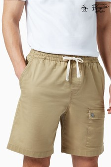 Original Penguin® Brown Drawstring Cargo Shorts