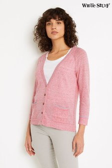 White Stuff Pink Anchor Marl Cardigan
