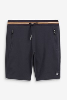 Slim Cotton Rich Jersey Cargo Shorts With Utility Pockets