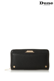 Dune London Black Kartie Around Removable Card Slot Purse