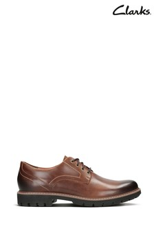 Clarks Dark Tan Lea Batcombe Hall Shoes