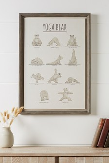 Yoga Bear Framed Art