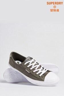 נעלי ספורט של Superdry דגם Low Profile בצבע חאקי
