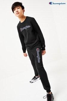 Champion Kids Logo Rib Cuff Joggers