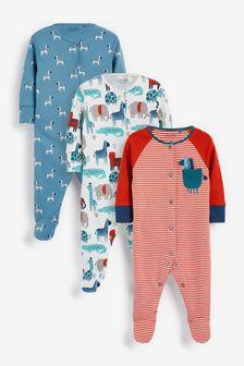 Набор из 3 пижам (0-2 года)