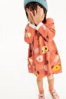 Трикотажное платье с пуговичной застежкой (3 мес.-7 лет)