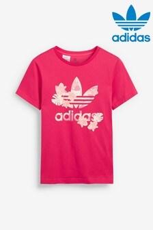 adidas Originals Dark Pink Trefoil T-Shirt
