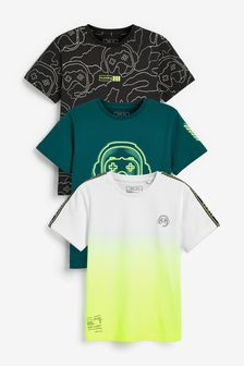 3 Pack Gamer Short Sleeve T-Shirts (3-16yrs)