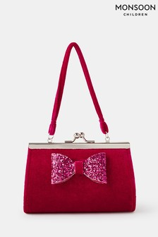 Monsoon Red Sparkle Bow Mini Bag