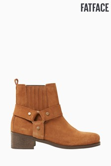 FatFace Tan Cromer Chelsea Ankle Boots