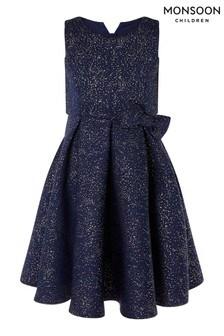 MonsoonNeopren-Kleid mit Folienprint, Blau