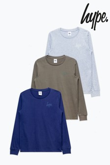 Hype. 3 Pack Long Sleeve T-Shirts