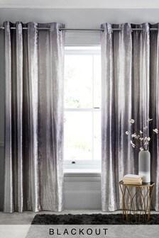 Ombre Velvet Eyelet Curtains