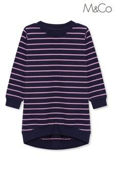 فستان سترة أزرق مقلم للأطفال منM&Co