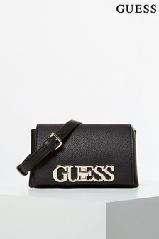 Guess Black Uptown Chic Mini Cross Body Bag