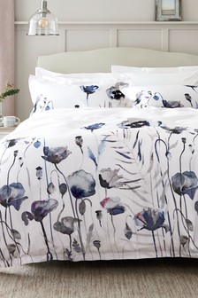 Waffle Floral 100% Cotton Duvet Cover and Pillowcase Set