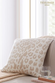 Tess Daly Leopard Knit Cushion