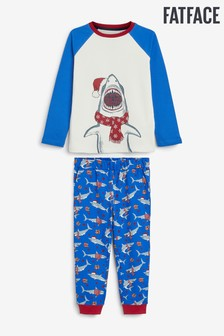 FatFace Blue Shark Pyjama Set