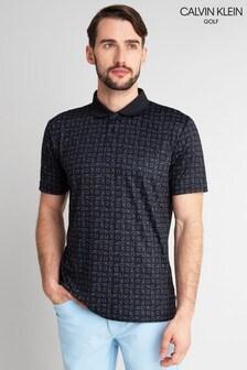 Bluză polo Calvin Klein Golf CK cu model geometric
