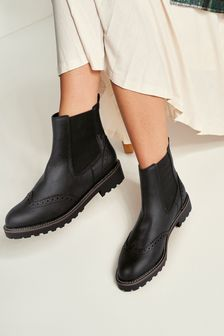 Forever Comfort® Brogue Chelsea Boots