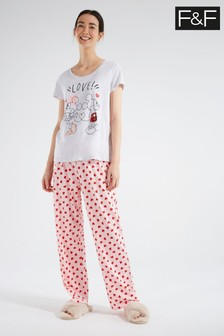 F&F Grey Mickey Mouse™ Pyjamas