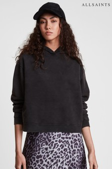AllSaints Pippa Embroidered Logo Hoodie