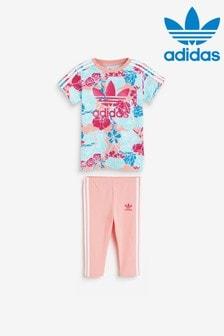 adidas Originals Infant Floral T-Shirt And Leggings Set
