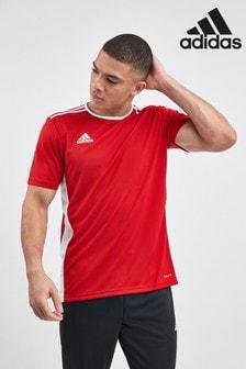 Красная трикотажная футболка adidas Entrada