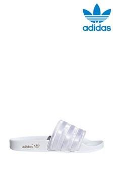 adidas Originals Adilette Pantolette, weiß