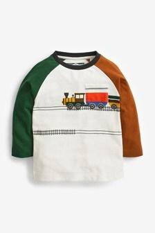 ポケット付き長袖 Tシャツ (3 か月~10 歳)