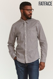FatFace Purple Slim Hove Gingham Shirt